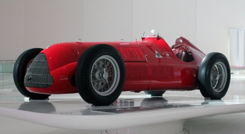 1937 Alfa Romeo 158 built by Scuderia Ferrari, the race division of Alfa Romeo.