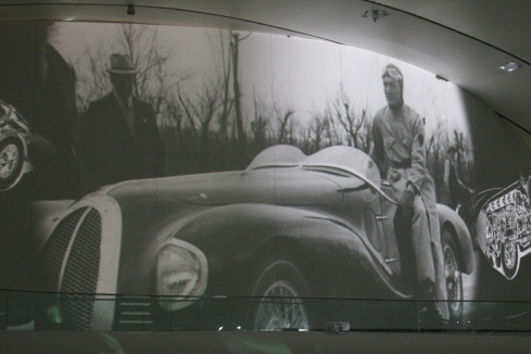 Part of the movie presentation that displays on the walls and ceiling.