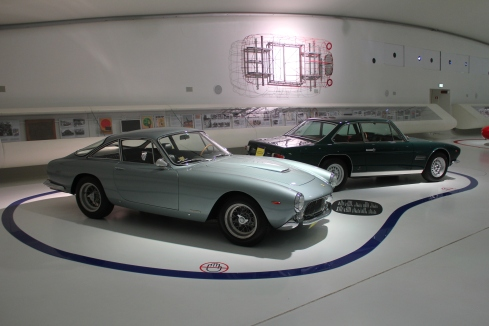 The 250 Berlinetta Lusso sits next to its Maserati competition.