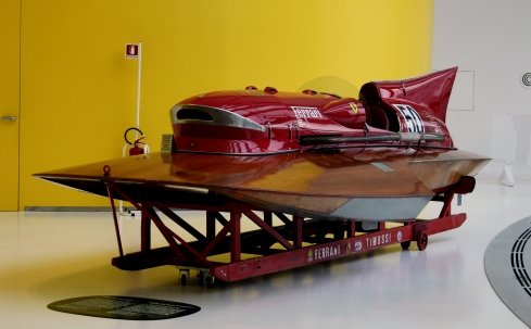 This 1953 ARNO XI Hydroplane with a twin supercharged V12 set a world speed record at 241.7 KPH.