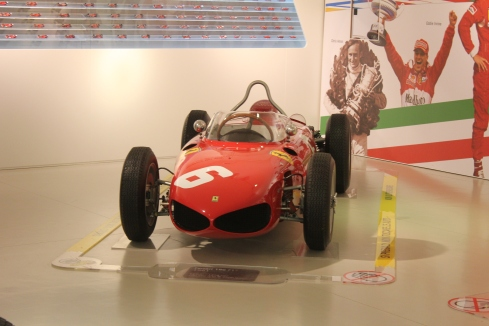 Since the originals were cut up and gone Ferrari recreated a 156 Sharknose