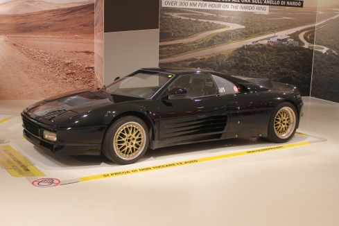 A stretched Ferrari 348 was the rolling test mule for the Enzo V12.